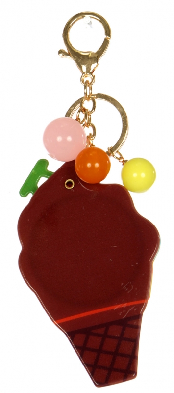 Wholesale WA00 Ice cream mirror keychain GMT