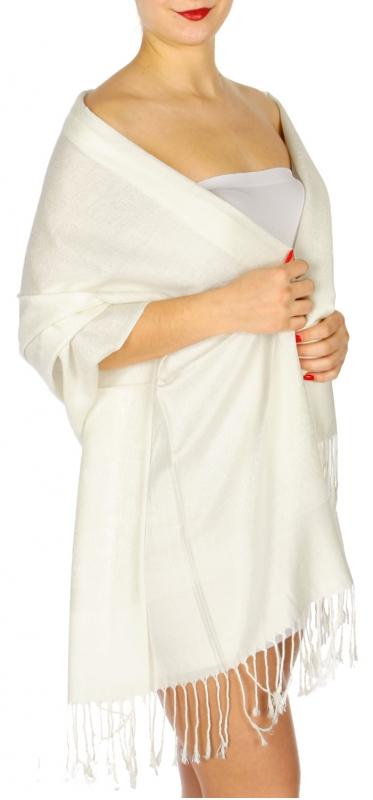 wholesale D31 Whole Jacquard Pashmina 16 Ivory