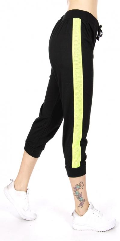 wholesale N06 Contrast cotton capri pants BK/Lime