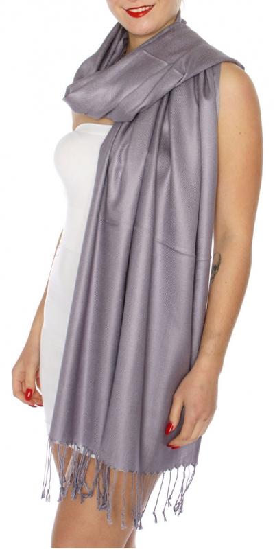 wholesale D63 Silky Solid Wedding Pashmina 68 Purple