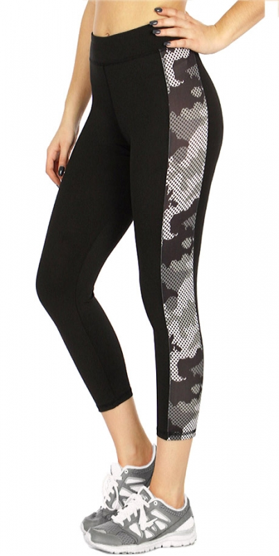 Wholesale P05 Side camo leggings BLUE