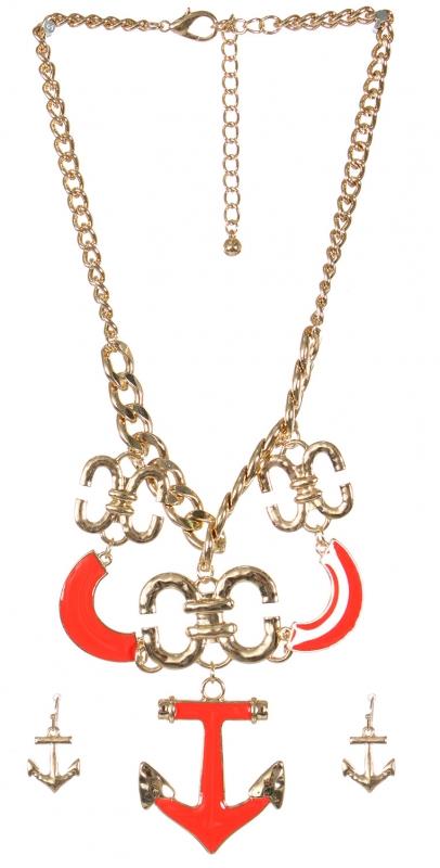 Wholesale Anchor pendant necklace set GRD