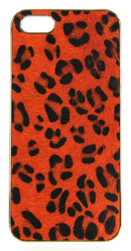 wholesale N38 Leopard calf hair cell phone case Brown