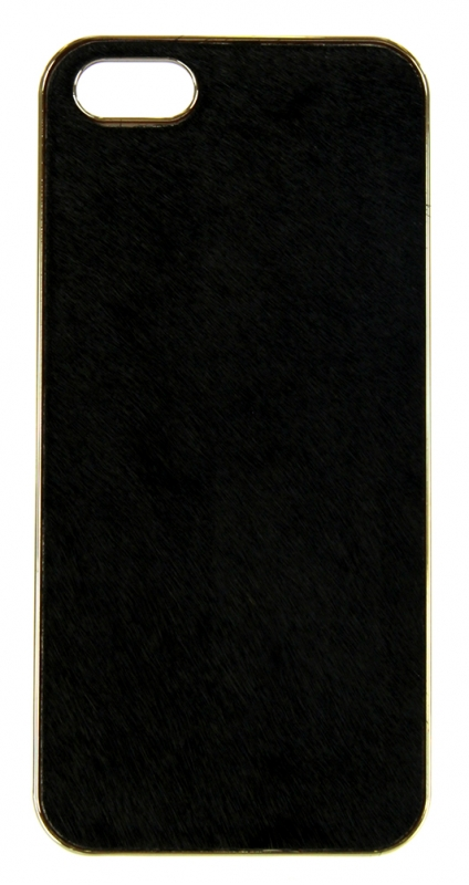 wholesale N38 Calf hair cell phone case Black