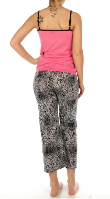 wholesale K52 Leopard metallic cotton pajama set SV