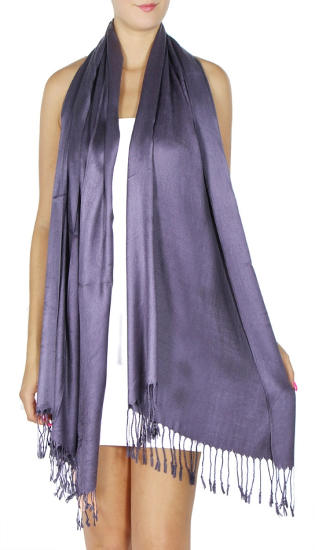 wholesale D36 Solid HD Wedding Pashmina 05 Navy