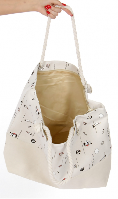 Wholesale S71A Extra large canvas beach bag Sea BEG