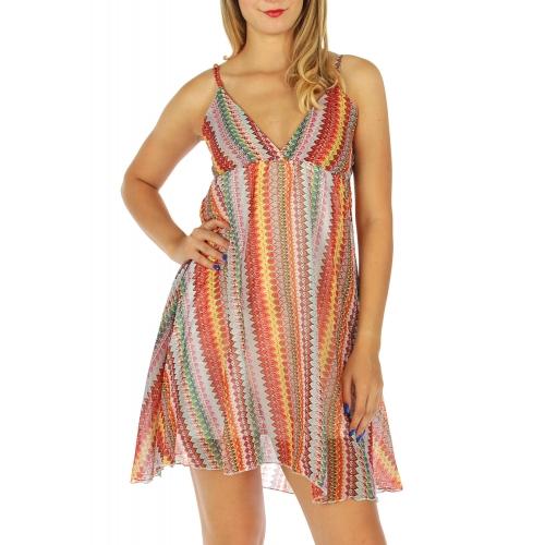 wholesale H03 Chiffon vertical short dress Red