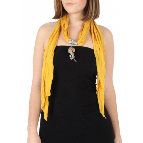 wholesale F16 White feather Jersey Scarf Yellow