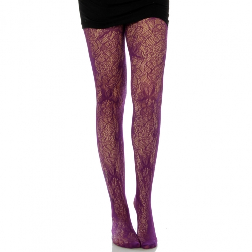 wholesale M00 dragonfly purple fishnet pantyhose