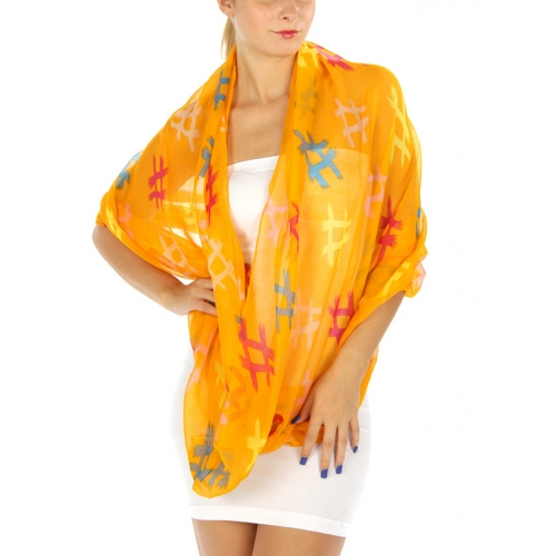 wholesale J01 Sharp print infinity scarf Beige