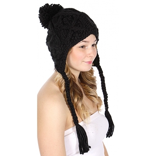 wholesale F08 Solid Knit hat Black fashionunic