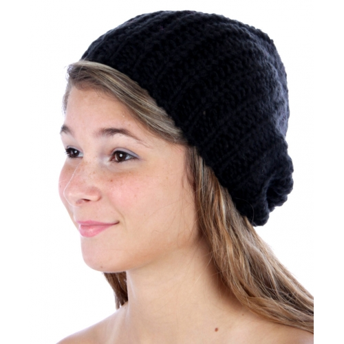wholesale F12 Plain Knit Beanie Black fashionunic