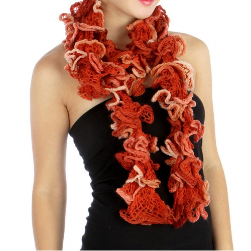 wholesale L35 Mesh knit ruffle scarf OR fashionunic