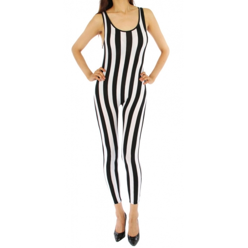 wholesale J32 Wide stripe pointe body suit BK/WH