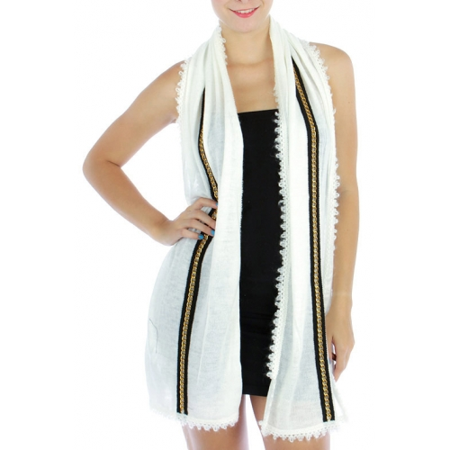 wholesale S55 Solid knit scarf chain detail IV