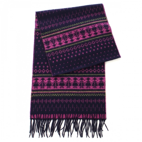 wholesale O65 Cashmere Feel Scarf 87601 Tribal Black