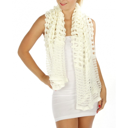 wholesale Q14 Two way window pane scarf Off WT