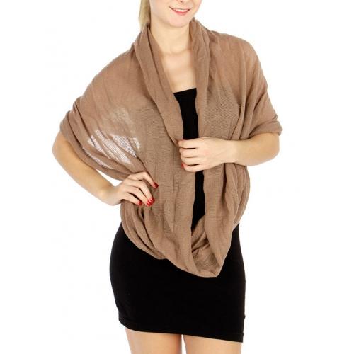 wholesale O43 Solid knit infinity scarf TP fashionunic