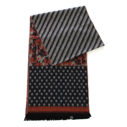wholesale O67  Mix animal cashmere feel scarf Black/Beige/Peach