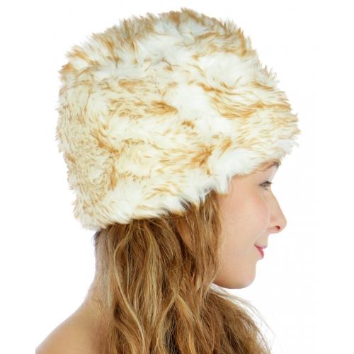 wholesale F07BX2 Faux fur bucket hat WT fashionunic