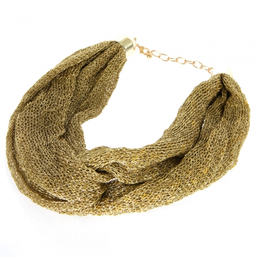 wholesale M42 Mesh fabric necklace Gold fashionunic