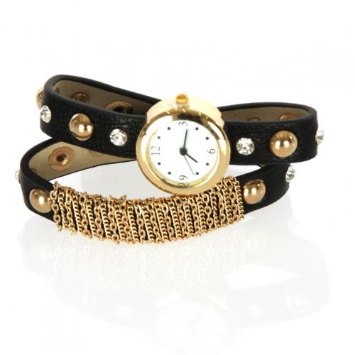 wholesale I71 Mesh stud long bracelet watch Black
