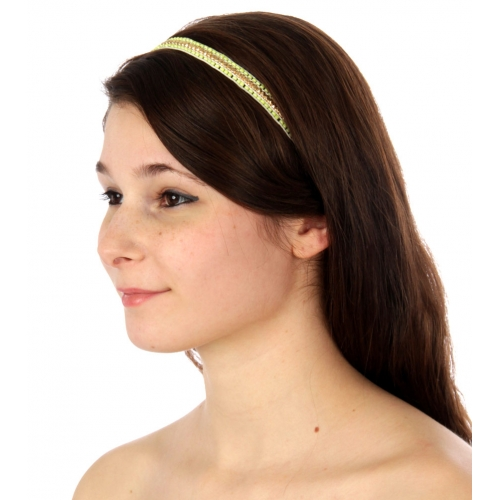 wholesale I71 Beaded headband Yellow fashionunic