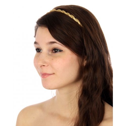 wholesale I71 Twisted chain headband Gold fashionunic