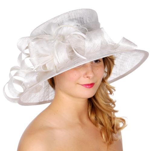 wholesale BX80 Swirled sinamay hat Black fashionunic