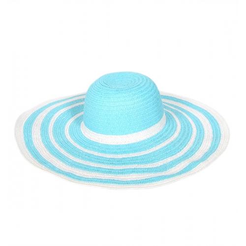 wholesale K33 Multi circle line sunhat Turquoise