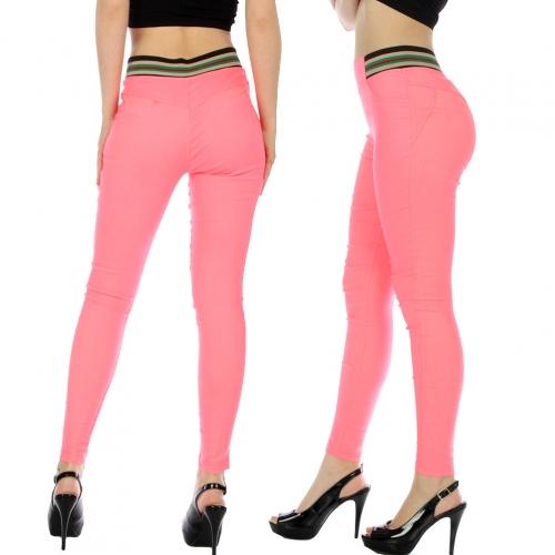 wholesale A26 Color band Stretch pants Black L