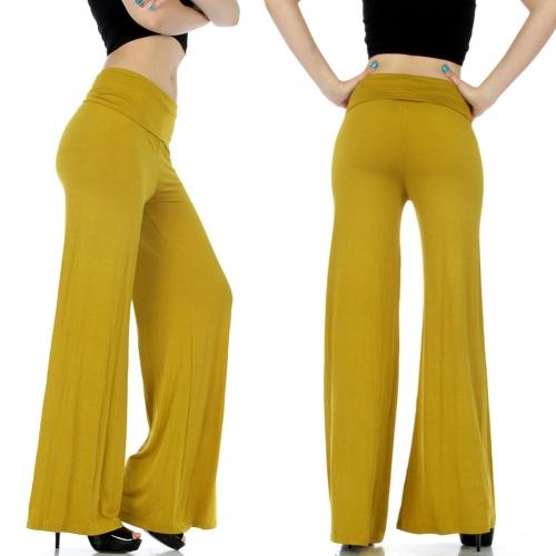 Wholesale C38WA00 Solid palazzo pants 1107 Black