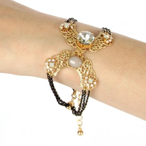 Wholesale N38 Elegant bracelet Gold/Black fashionunic