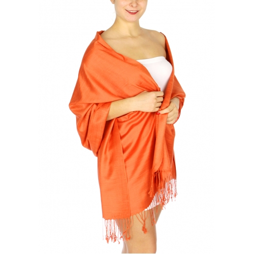 wholesale D01 Silky Light Wedding Pashmina 14 Sunset OR