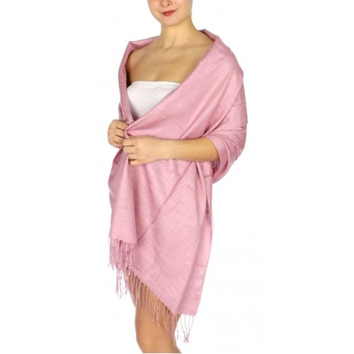 wholesale D01 Silky Light Wedding Pashmina 18 Dusty Pink