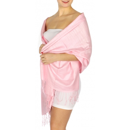 wholesale D01 Silky Light Wedding Pashmina 32 Baby Pink