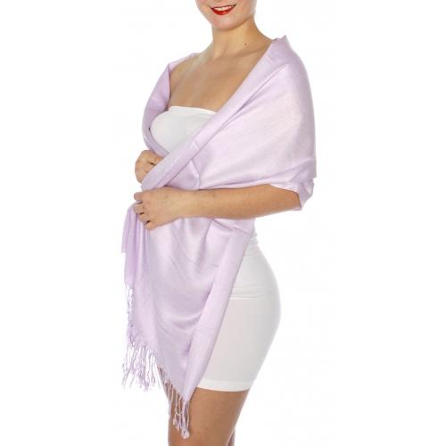 wholesale D45 Silky Solid Wedding Pashmina 33 Lavender