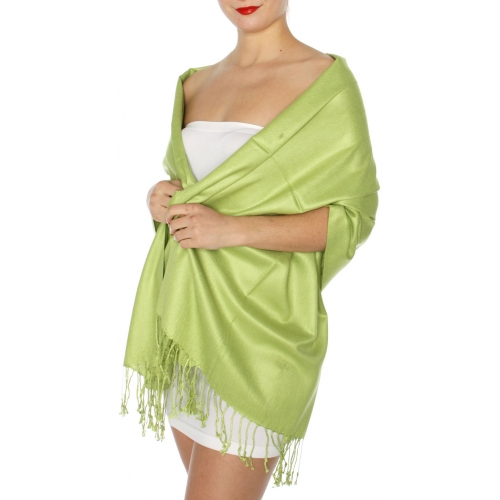 wholesale D45 Silky Solid Wedding Pashmina 51 Margarita