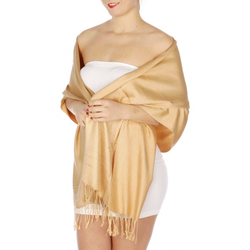 wholesale D36 Solid HD Wedding Pashmina 12 Camel