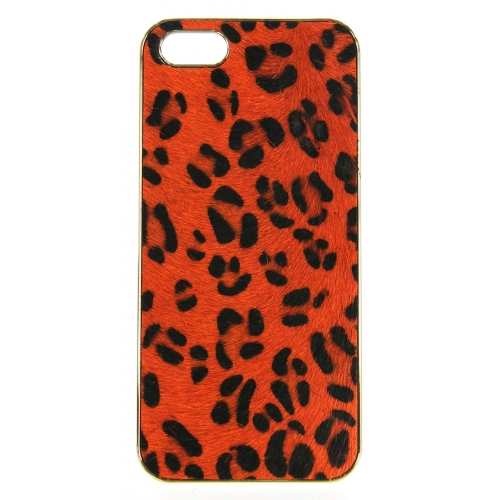 wholesale N38 Leopard calf hair cell phone case Brown