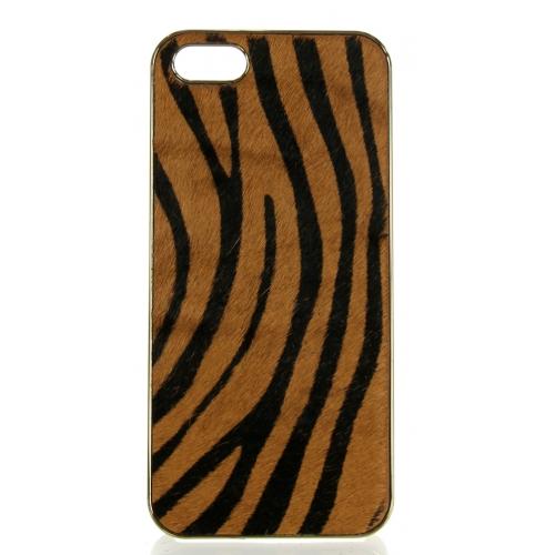 wholesale N38 Zebra calf hair cell phone case Brown