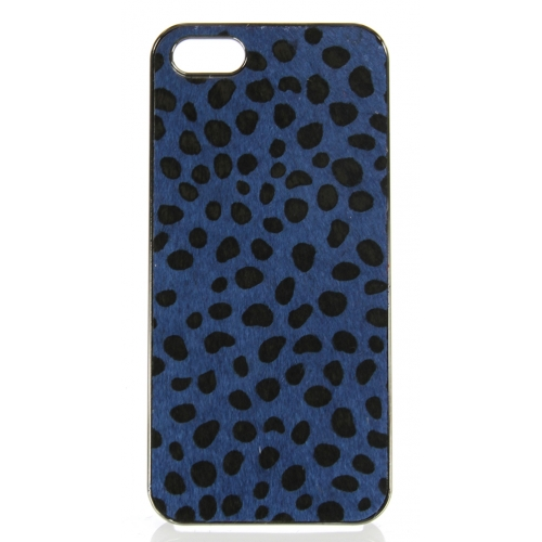wholesale N38 Cheetah calf hair cell phone case Blue