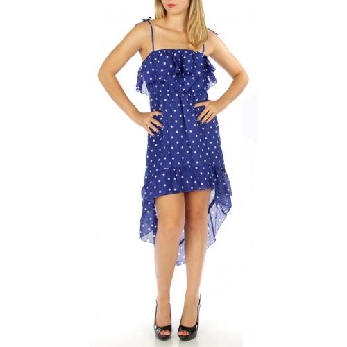 M06 Wholesale Polka dot print dress Coral fashionunic