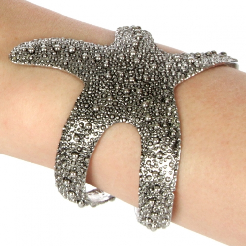 wholesale L13 Starfish cuff Gunmetal fashionunic