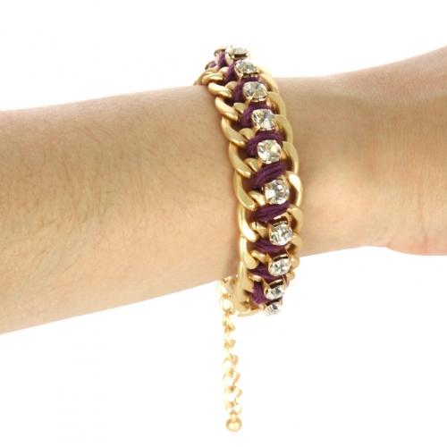 wholesale Color chain and stone bracelet Purple