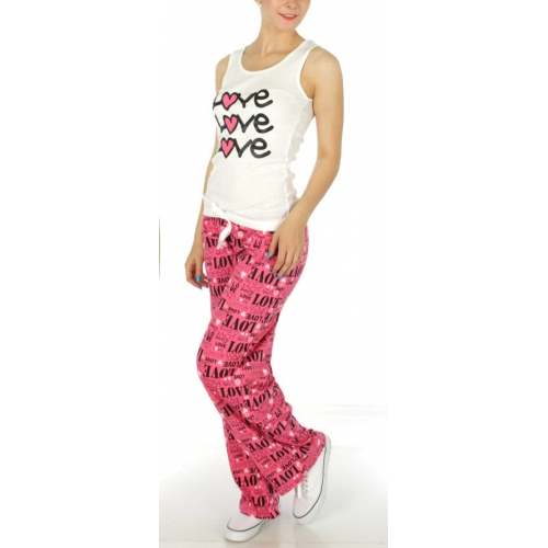 wholesale G30 Love pajama set White/Black/Hot pink