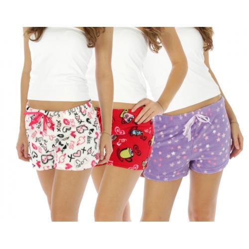 wholesale M02 20-3 Fluffy shorts 6pcs pack X Large