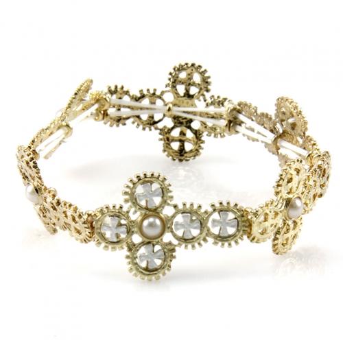 Wholesale L35 Strachable cross bracelet Gold fashionunic