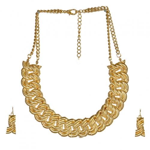 wholesale L35 SN9858GD Necklace set fashionunic